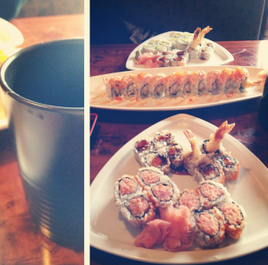 Green Tea with my sushi