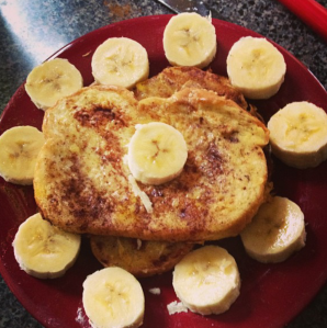 My French Toast with Bananas